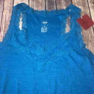 Mossimo Supply Co. Blue Lace Top, Sz. XXL